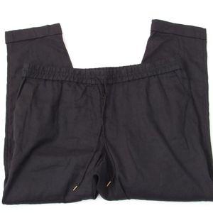 Ann Taylor LOFT Linen Pants Elastic Waist